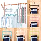 Quifinity Wardrobe Space Saver HangeNon-slip MultiFunctional Clothes Hangers Pants Storage Hangers Cloth Rack Storage…