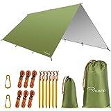 RYACO Camping tentzeil, 3 m x 3 m, tarp voor hangmat, waterdicht, licht, compact, tentonderlegger, picknickdeken, Hammock voo