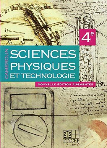 SCIENCES PHYSIQUES ET TECHNOLOGIE 4E ELEVE CAMEROUN