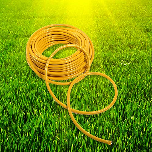Alaskaprint Wasserschlauch Gartenschlauch Bewässerung Schlauch Gelb 3 lagig 1 Zoll 50 Meter 25mm aus robustem Kreuzgewebe