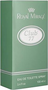 Royal Mirage Club 77 Eau de Toilette For Men, Multi Smell, 100 ml