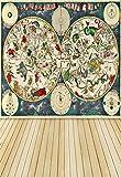 leowefowa 5x 2,1Vinyl Hintergrund dünn Fotografie Hintergrund verwitterter Streifen Hölzerne Plattform, Tiere Evolution Theory Outdoor Artistic Scenery Baby Party Film Hintergrund 1,5(W) X 5,6(H) M Foto Studio Requisiten