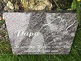 Grabplatte inklusive Schrift Urnengrabplatte Grabstein Grabmal Liegestein 40cm x 30cm x 6cm
