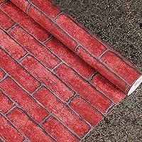 Yazi Rot Brick Effekt Abziehen U0026 Aufkleben Abnehmbarem Tapete Rolle Für  Home Office Dekoration 0,