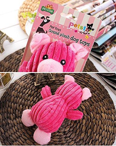 Tofern Plüschspielzeug Quietschspielzeug Kauspielzeug Zahnknoten Knotentau Spielzeug Hund Katze, Schwein