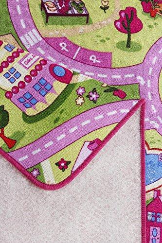 Straßenteppich/Spielteppich Sugar Town, Pink, Rosa, GUT/Prodis geprüft, weich, Größe:100x165cm - 4