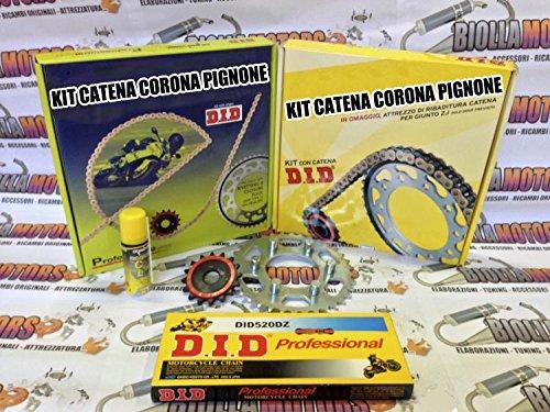 375588000 KIT CATENA CORONA PIGNONE DID APRILIA 125cc MX 125 (11 KW) 04-06