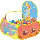 Enfants Piscine à Boules, Ocean Ball Piscine Tent de Jeu Portable Intérieur Extérieur avec Panier de Basket pour Bébé Enfants