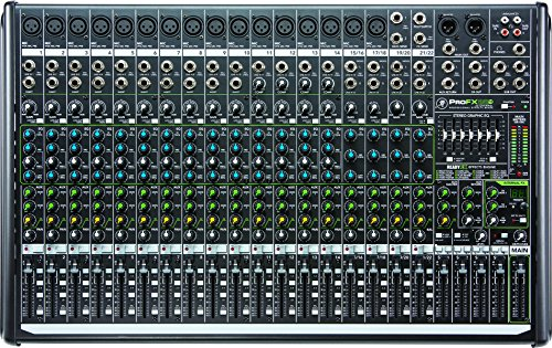 Mackie PROFX22V2 22-Channel 4-Bus Mixer, Black