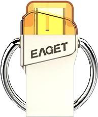 Eaget CU66 Metal Type-C USB 3.1+USB 3.0 OTG Function Pendrive U Disk(32G)