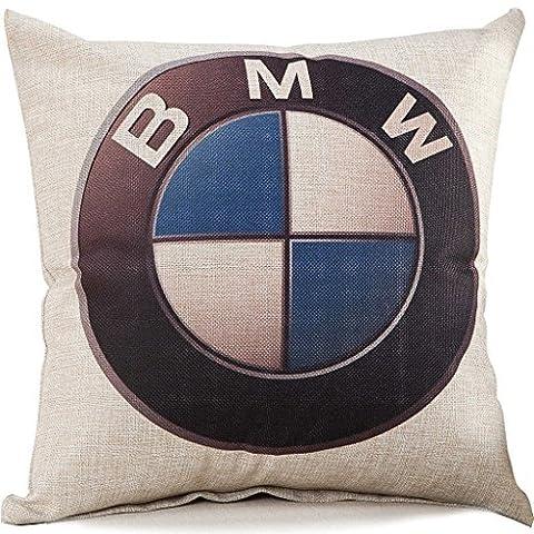 1WillLoanestore BMW Logo Cotton Linen Pillow Cover 18 X 18 Inch