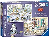 Ravensburger Crazy Cats On The High Street Puzzles (2 x 500 piece)