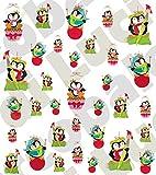 AWS - Juego de calcomanías + + + Navidad + + + Hojas con pegatinas para uñas Nail Art de transferencia con agua - Árbol y bolas de Navidad, diseños de fantasía, papá noel, acebo, campanitas, ángel, cometa, galletitas, pan de jengibre, estrella y vela, ¡feliz año!