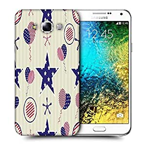 Snoogg Us Star Printed Protective Phone Back Case Cover ForSamsung Galaxy E7