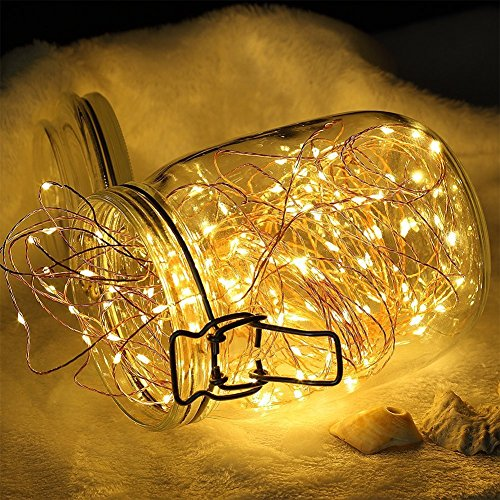 Quace 120 LED 12m + 1.5m Copper String Light USB Powered Diwali Christmas Festival