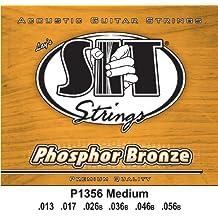 SIT P1356 - Juego de cuerdas para guitarra acústica y guitarra eléctrica de fósforo/bronce, 13-56