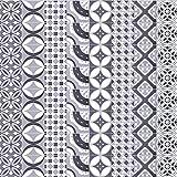Pag Creative Casa Décor Adesivo autoadesivo in piastrelle in PVC per la stanza da bagno Cucina Decorazione da parete della parete della stanza da bagno 20cmx5m (7.87 x 196.85 pollici) (WTS003)