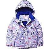 Liny Chaqueta con Capucha Impermeable Niño - Bebe Niña Ropa de Abrigo de Esquí Invierno Dibujos Chubasquero Capa Nieve