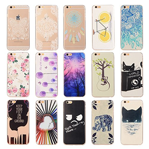 Pour Apple iPhone 6 Plus (5,5 Pouces) Coque ZeWoo® Étui en Silicone TPU Housse Protecteur - YG012 / World Domination For Cats YG002 / Un Gitare