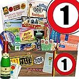 Spezial Geschenk Box | DDR Geschenk XXL | Zahl 1 | Geschenk Box Opa