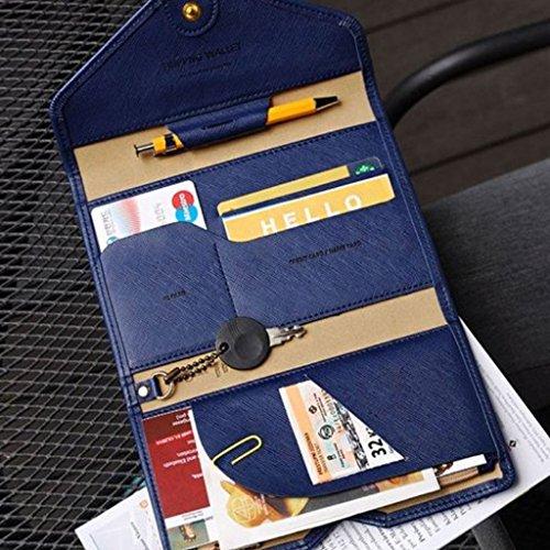 Sharplace Portafoglio Donna per Credito Carta d'identità Titolare Porta Passaporto Di Viaggio Organizzatore Sacchetto #8