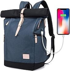 XIAOYAO Laptop Rucksack Damen Herren Tagesrucksack Schulrucksack College-RucksackBackpack Wasserdicht USB Rucksack 15,6 Zoll