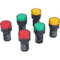 sourcingmap® Signal 6pcs AC 12V 20mA orange vert rouge Voyant d'alimentation Pilot Light Lamp