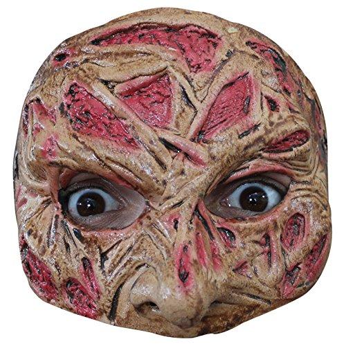 e mahal607-Demi Maske Gesicht Brulée Latex Erwachsene-Einheitsgröße ()