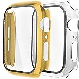 Fengyiyuda Cover[2-Pezzi] Compatibile con Apple Watch Custodia 38/40/42/44mm con Anti-Bubble TPU Pellicola Protettiva,360 Rug