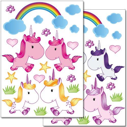 adesivi-da-parete-wandkings-teneri-unicorni-set-adesivi-38-adesivi-su-2-fogli-din-a4