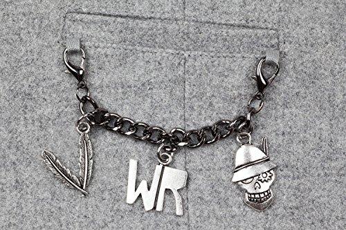 WIESNROCKER I WR3201 I Frauen-Trachtenweste hellgrau I modern & rockig I Damen-Gilet mit vielen Details I hochwertige Verarbeitung I Gr. M - 3