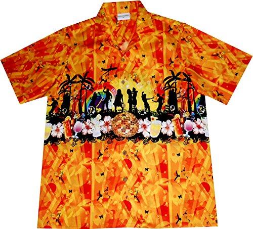 """Hawaiihemd / Hawaii Hemd """"Summer Party"""", 100% Baumwolle, Größe XXXL (Disco Kostüm Xxxl)"""