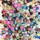 Skyllc® 200X Abalorios Bolas de Cristal Redondo Vario Color 8mm Multicolor