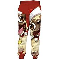 XiaoHeJD 3D Cartoon Style Weihnachtshose M/änner und Frauen Jogging Jogginghose Holiday Party Casual Hosen Weihnachten