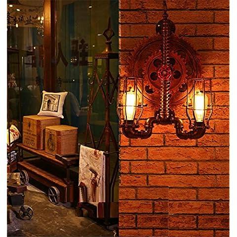 Modylee Parete creativo decorativo tubi d'epoca muro caffè scale villa nostalgico attrezzi industriali Lampade da (Filigrana Pendente Di Montaggio)