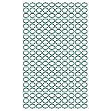 sourcing map 200pz verde 11mm diametro esterno 1 mm spessore anello di tenuta a forma O occhiello in gomma