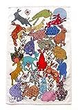 MollyMac Geschirrtuch, süßes Küchen-Deko, Hasen-Geschirrtuch Ideales Dankeschön, Geschenk für Hochzeit, Geburtstag, Weihnachten, hergestellt in Großbritannien, 100% Baumwolle, 71 x 46 cm