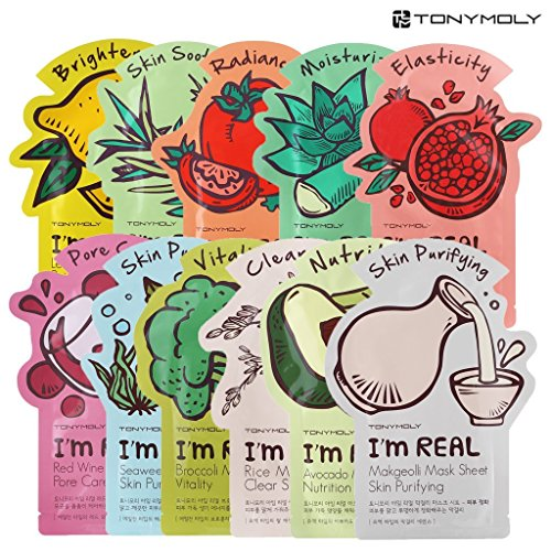 tonymoly-im-real-skin-care-facial-mask-sheet-package-all-11-sheets-by-tonymoly