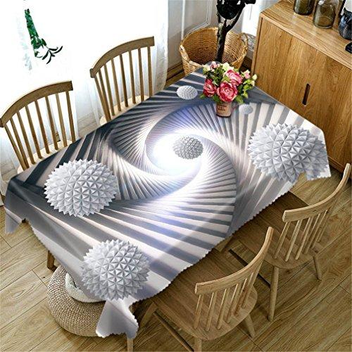 Polyester Coton 3D Nappe Noir Blanc Rayures Motif Dustproof Table À Manger Tissu De Mariage Décoration De Table Couverture Color 3 80cm X 150cm