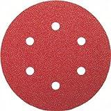Bosch 2609256A34 Feuilles abrasives pour Ponceuses excentriques Diamètre 150 mm 6 trous Grain 240 Lot de 5 feuilles