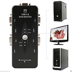 Oxyura™ 4 Port KVM Switch (4 CPU & 1 Display)