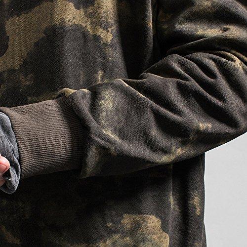 Sissiren Herren Langarm Shirt Camouflage Langarmshirt Braun