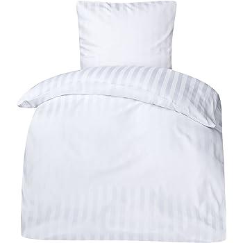 Bettwäsche Linon Weiß G11 Hotelverschluss 135200 Hotelbettwäsche