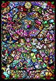 1000 Piece Jigsaw Puzzle Disney & Disney Pixar Heroine Collection Stained Glass [Pure White] (51 x 73,5 cm)