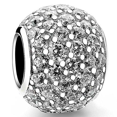 Beauty Charm 925Sterling Silber violett Lure Perlen DIY Zirkon Charm für Pandora