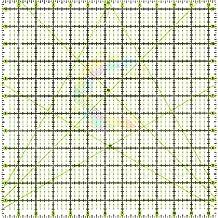 Regla para patchwork, 31,7 x 31,7 cm