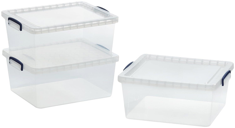 Amazonbasics scatole portaoggetti in plastica - Scatole portaoggetti ...