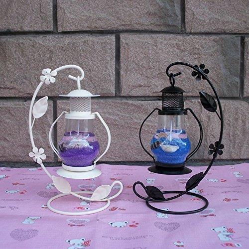 MMMM-Gancio retrò piccola lanterna candeliere jelly romantico ragazze regali di compleanno ornamenti,blu