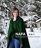 Napa Patented 4-in-1 All-Purpose Outdoor Hooded Blanket, Stadium Cushion, Rain Poncho, Table Cover