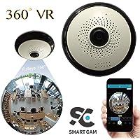 SmartCamCCTV Smart Home Security Camera 3MP VR Mini Hidden Webcam FishEye 360 Degree Wireless IR Day Night WiFi Panoramic IP Camera